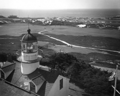 """Point Pinos Lighthouse by Jerry Lebeck, The Jerry Lebeck Collection, California History Room, © Monterey Public Library"""""""