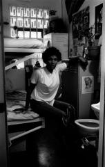 Stanley (Brandy) Thomas, prisoner, 1987, by Morrie Camhi, ©Estate of Morrie Camhi, Courtesy of Barry Singer Gallery