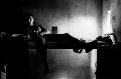 Richard Lee Dodgin, prisoner, 1987, by Morrie Camhi, ©Estate of Morrie Camhi, Courtesy of Barry Singer Gallery