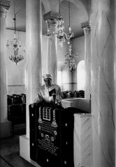Elias Albelansis, Prayer Reader of Larissa, 1988, by Morrie Camhi, ©Estate of Morrie Camhi, Courtesy of Barry Singer Gallery