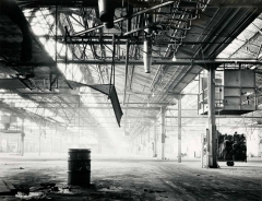Foggy Interior, Uniroyal Tire Factory, City of Commerce, California 1980 by Ray McSavaney, © Ray McSavaney Archive
